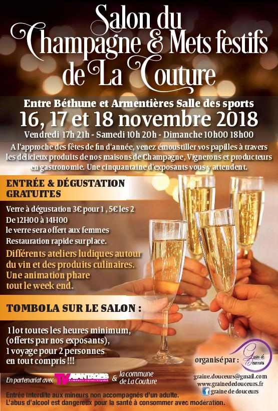 16 au 18 novembre 2018 salon du champagne et mets festifs. Black Bedroom Furniture Sets. Home Design Ideas
